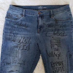 Ny & Company Soho Skinny Jean's sz 14